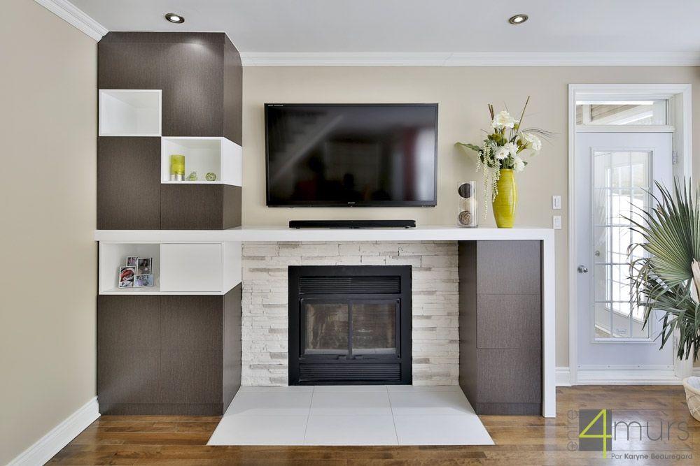 mur t l avec foyer design recherche google mine pinterest foyer foyer design ve. Black Bedroom Furniture Sets. Home Design Ideas