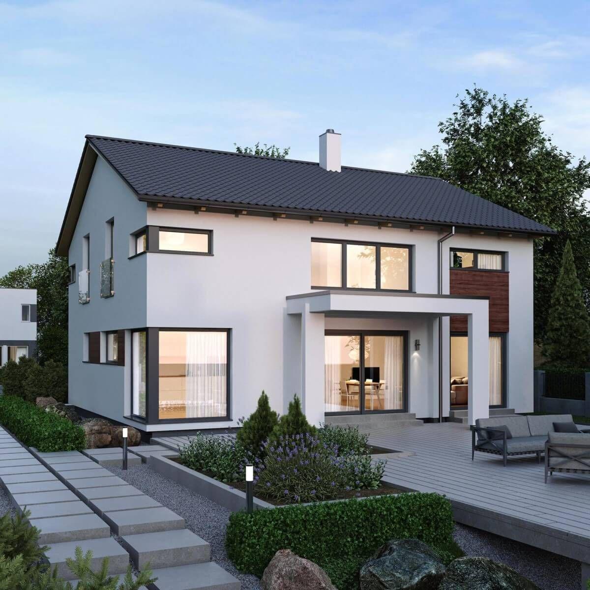 Modernes Einfamilienhaus mit Satteldach Architektur & Galerie - Haus ...