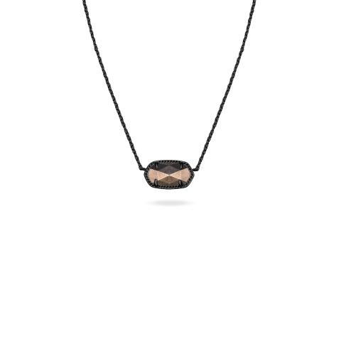 Elisa pendant necklace in periwinkle dress