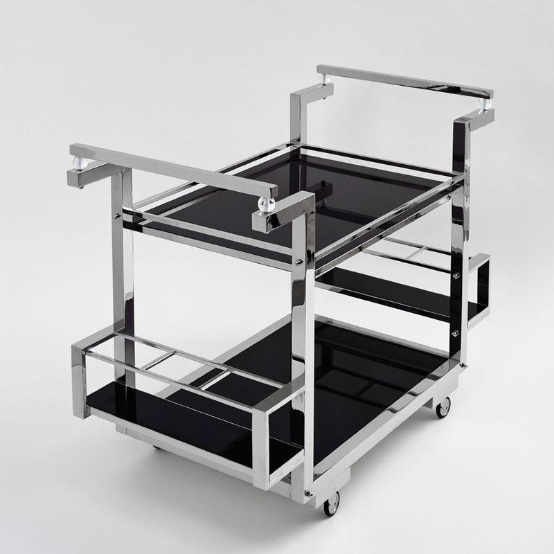 art deco barwagen metall vernickelt schwarzglas art deco for me pinterest art deco. Black Bedroom Furniture Sets. Home Design Ideas