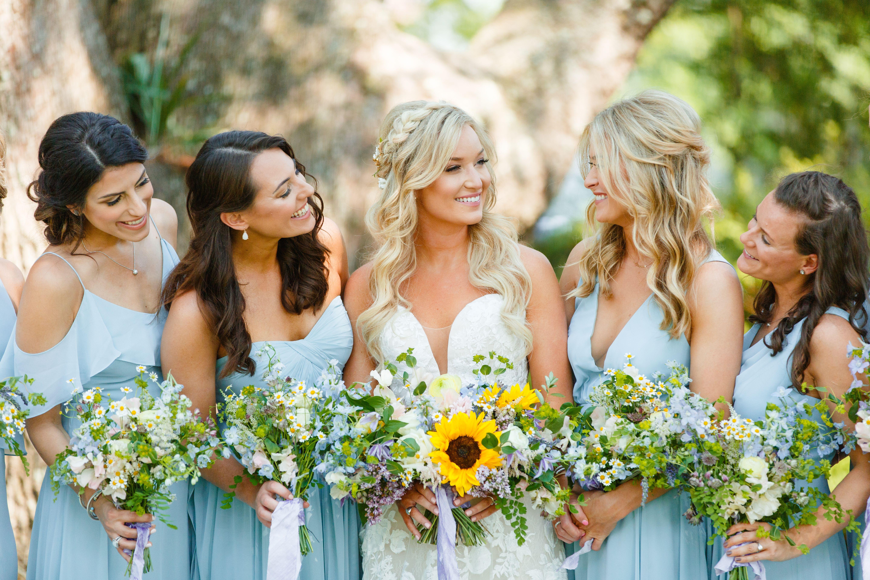 Wildflower Bouquets Lowndes Grove Wedding Powder Blue Bridesmaid Dress Lowndes Grove Wedding Powder Blue Wedding [ 3840 x 5760 Pixel ]