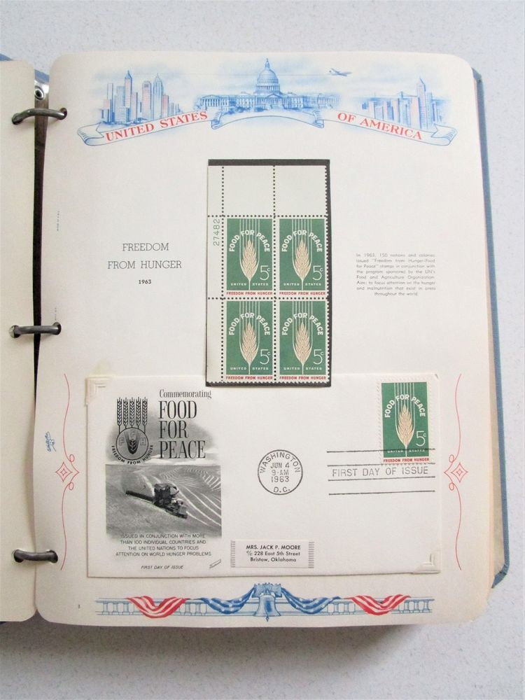 Vintage Postage Stamp Book Stationary First Day Issue 1963-64 Narcotics 51 pages