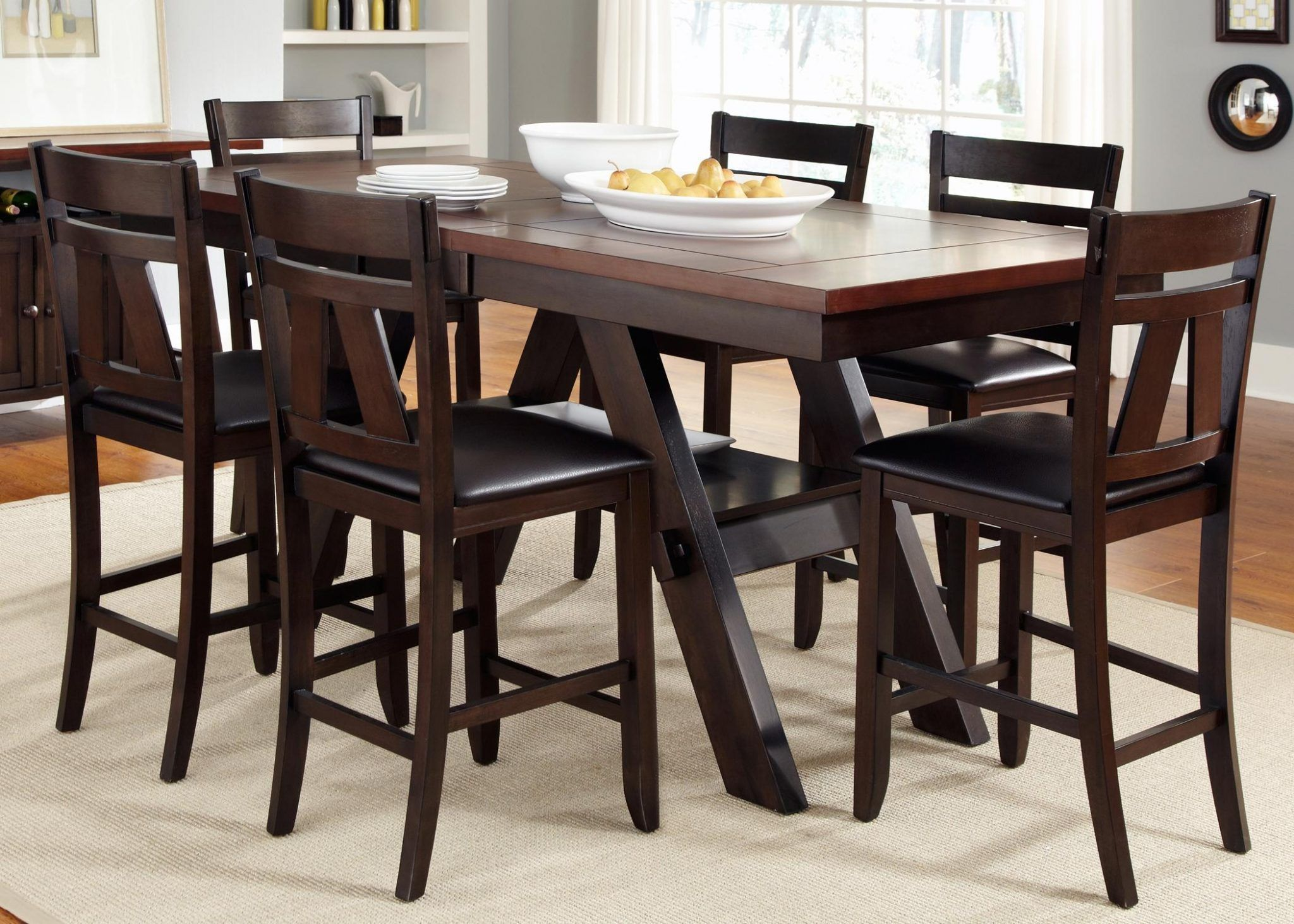 chairs height circle table bar high and dining kitchen room size of with pub wooden black chair counter full
