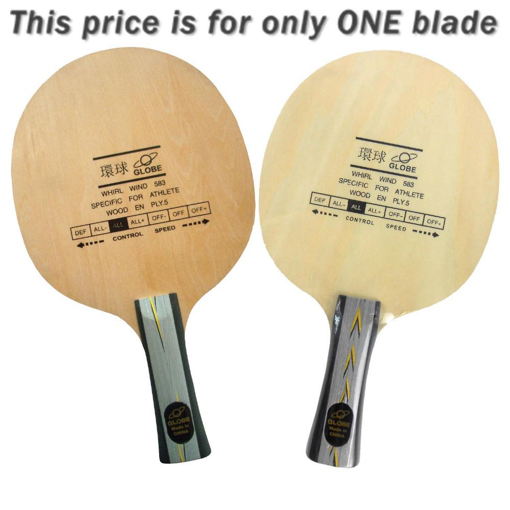Globe Whirl Wind 583 Specific For Athlete 5 Plywood Allround Table Tennis Blade For Pingpong Racket Table Tennis Racquet Sports Athlete