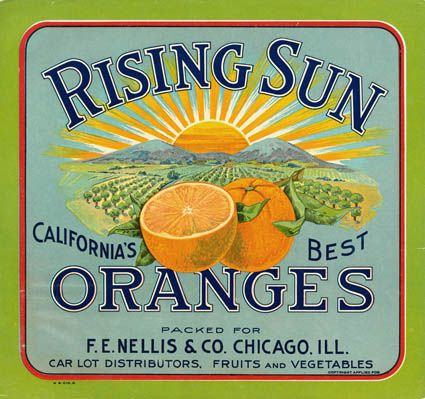 Rising Sun Oranges - F.E. Nellis and Co.