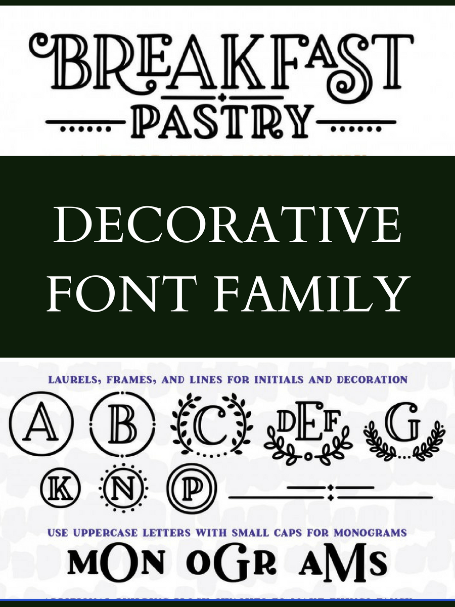 I Love His Breakfast Pastry Decorative Font Family It Comes With So