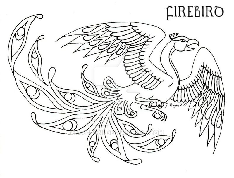 Firebird Design By Ari Usni Bird Coloring Pages Celtic Patterns