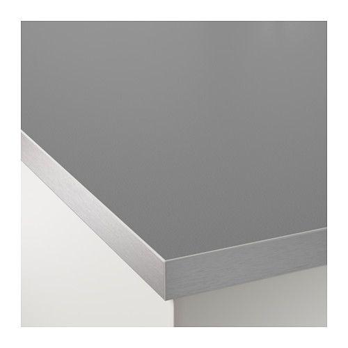 Plan De Travail Double Face Hällestad Blanc Motif Aluminium