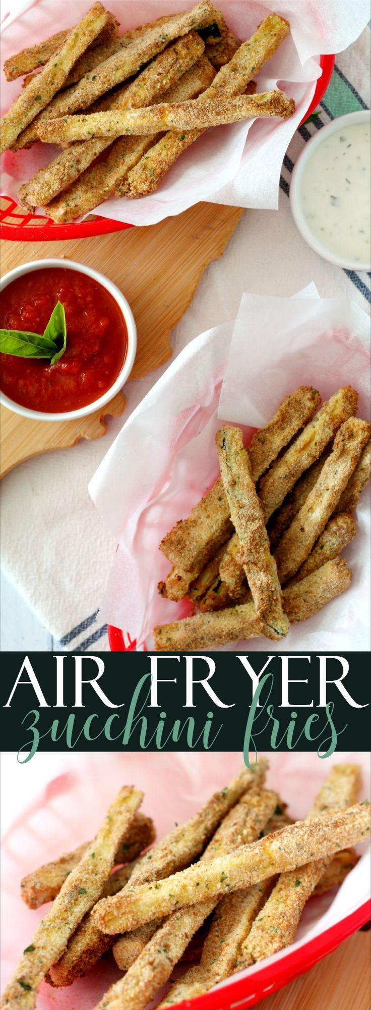 Air Fryer Zucchini Fries Living La Vida Holoka Recipe