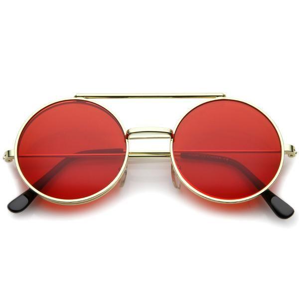 a6395dc5c99c6 Steampunk Vintage Circle Round Flip Up Vintage Sunglasses 8793   Óculos,  Óculos de sol e Acessórios