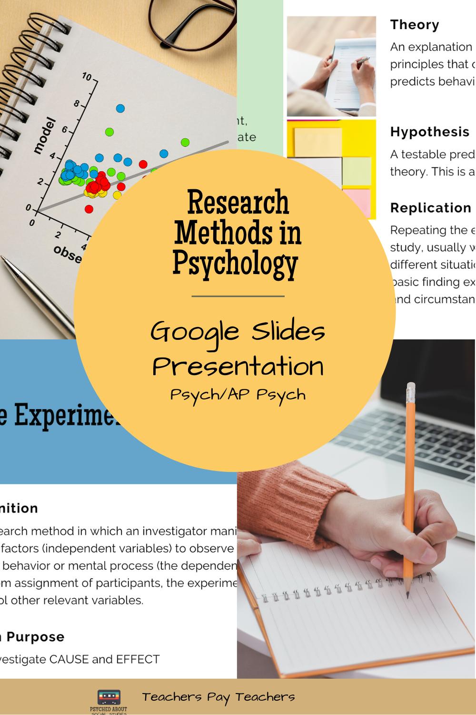 Research Methods In Psychology Google Slides Research Methods Psychology Ap Psychology