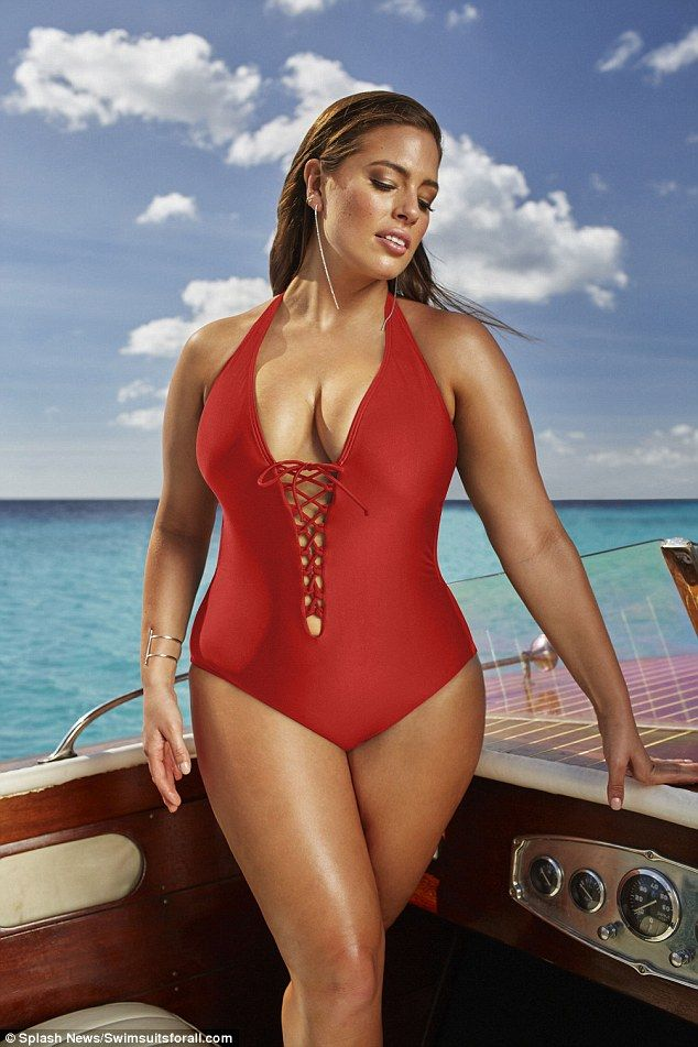967d4f0c251db The size 16 model models the swimwear brand caters for women of a size 10  to 24