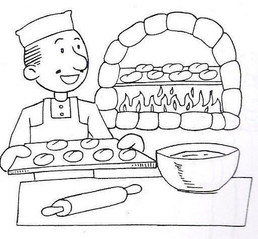 Laminas infantiles profesiones y oficios para imprimir for Herramientas de un cocinero