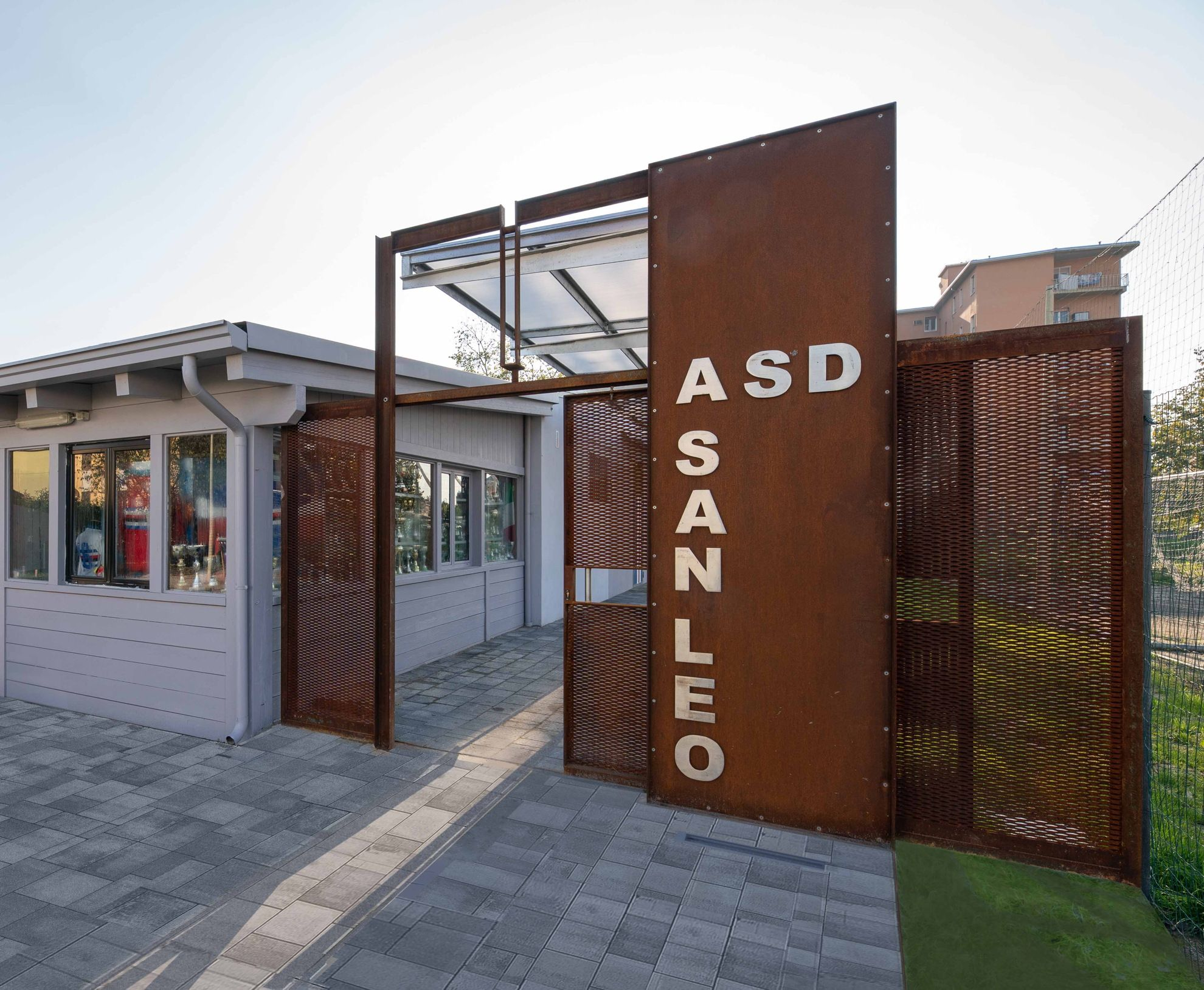A landmark gateway for a renovation in Parma