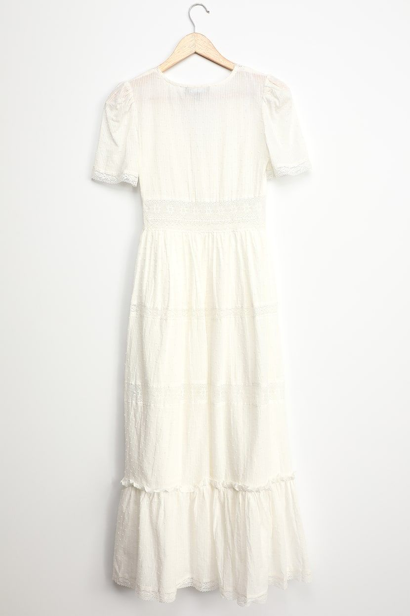 Relaxed Fit Self 75 Polyester And 25 Rayon And Lining 100 Polyester Hand Wash Cold Dry Flat Plunging Neckline Half S White Dress Dresses White Midi Dress [ 1125 x 900 Pixel ]