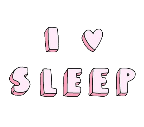 Image result for sleep tumblr transparent word