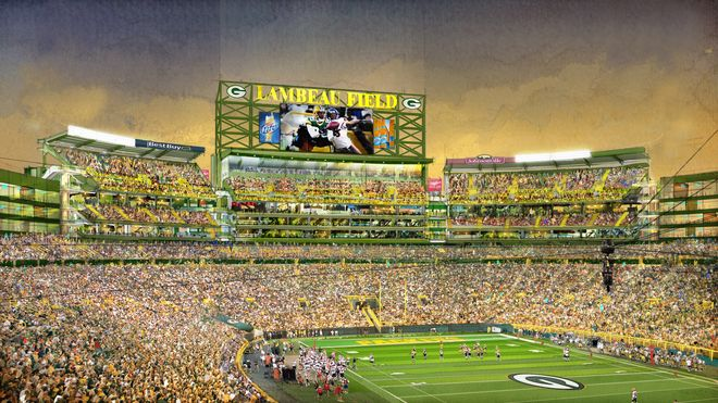 Packers Announce Lambeau Expansion Plans Lambeau Field Green Bay Field