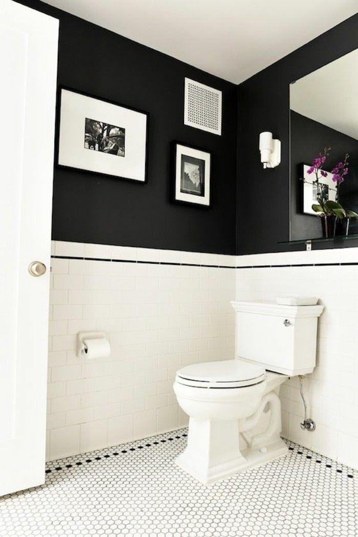 la salle de bain noir et blanc les derni res tendances faience salle de bain salles de. Black Bedroom Furniture Sets. Home Design Ideas