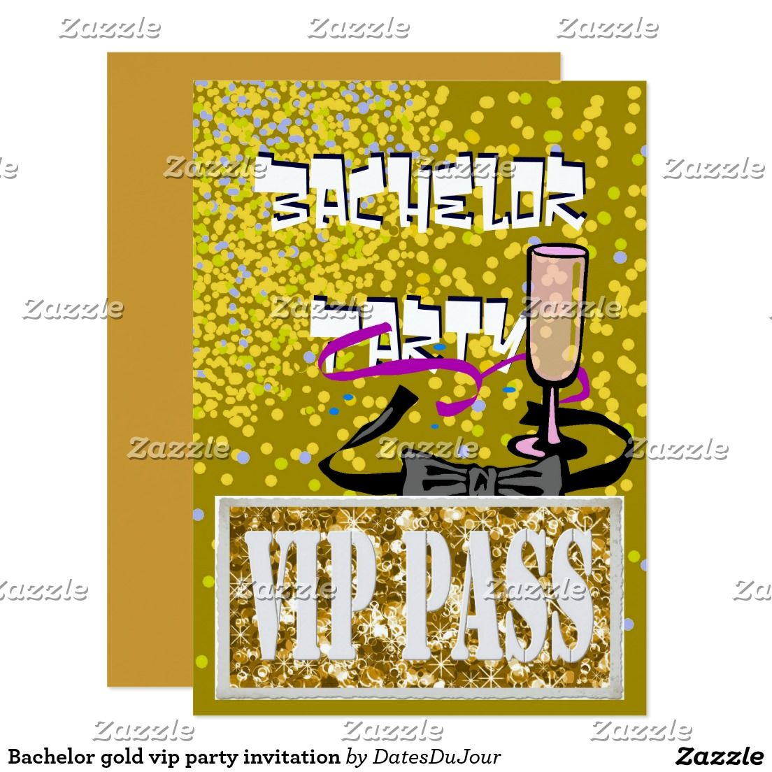 Bachelor gold vip party invitation | Pinterest | Party invitations ...