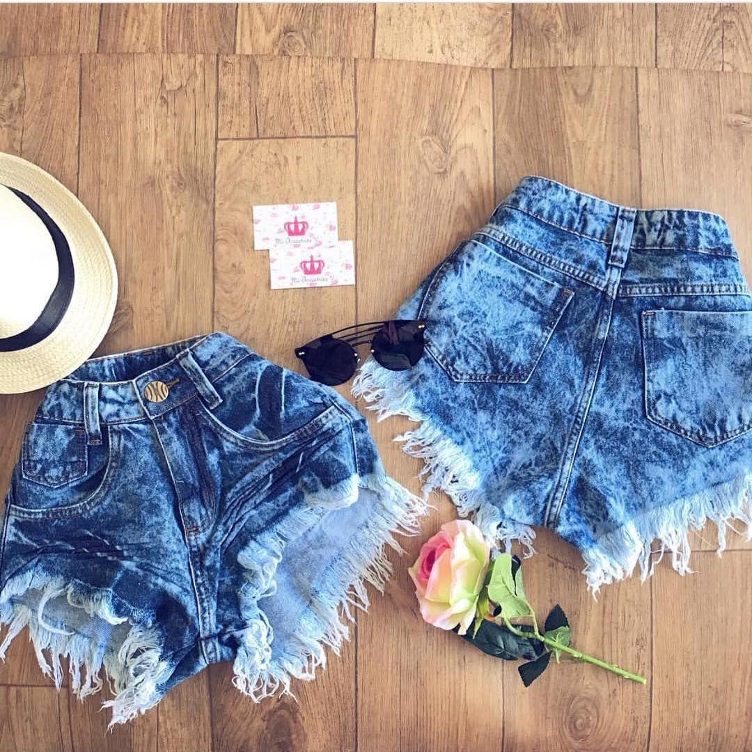 Shorts: Jeans, Cintura Alta Feminino, Veja os Modelos | Zinzane