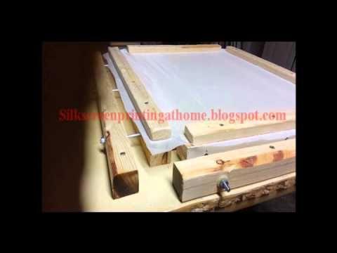 Easy Simple DIY Silk Screen Frame Mesh Stretcher Machine http://silkscreenprintingathome.blogspot.com/2015/02/best-homemade-silk-screen-mesh-stretcher.html E...