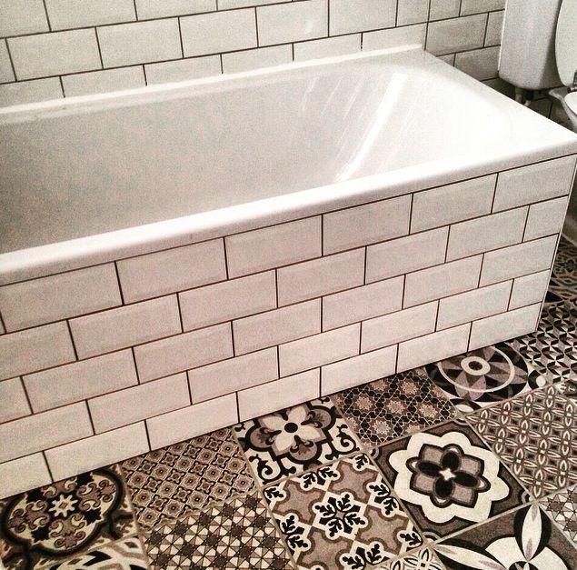 Tile Bathroom Vintage metro tile bathroom. vintage patchwork floor tiles | kupelna