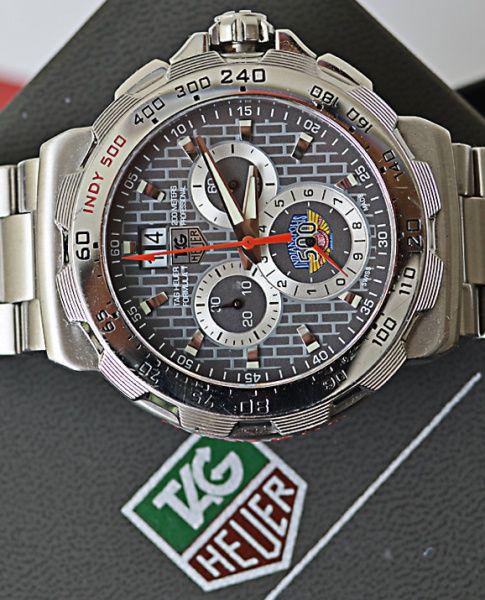 8bc2a5992cf Relógio Tag Heuer - Aço - Quartz - Suíço - Vidro Safira - Calendário Big  date - Cronógrafo - Med. 44
