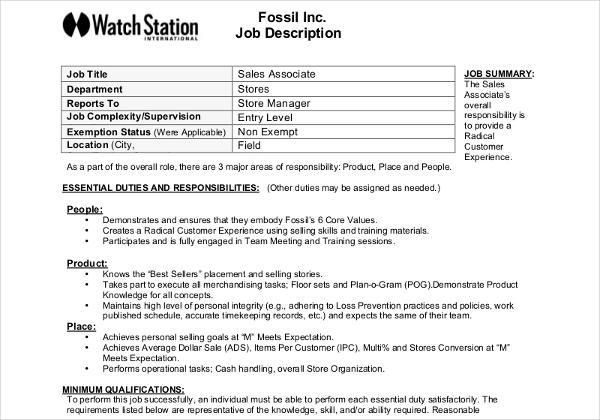 11+ Job Description Templates Job description template