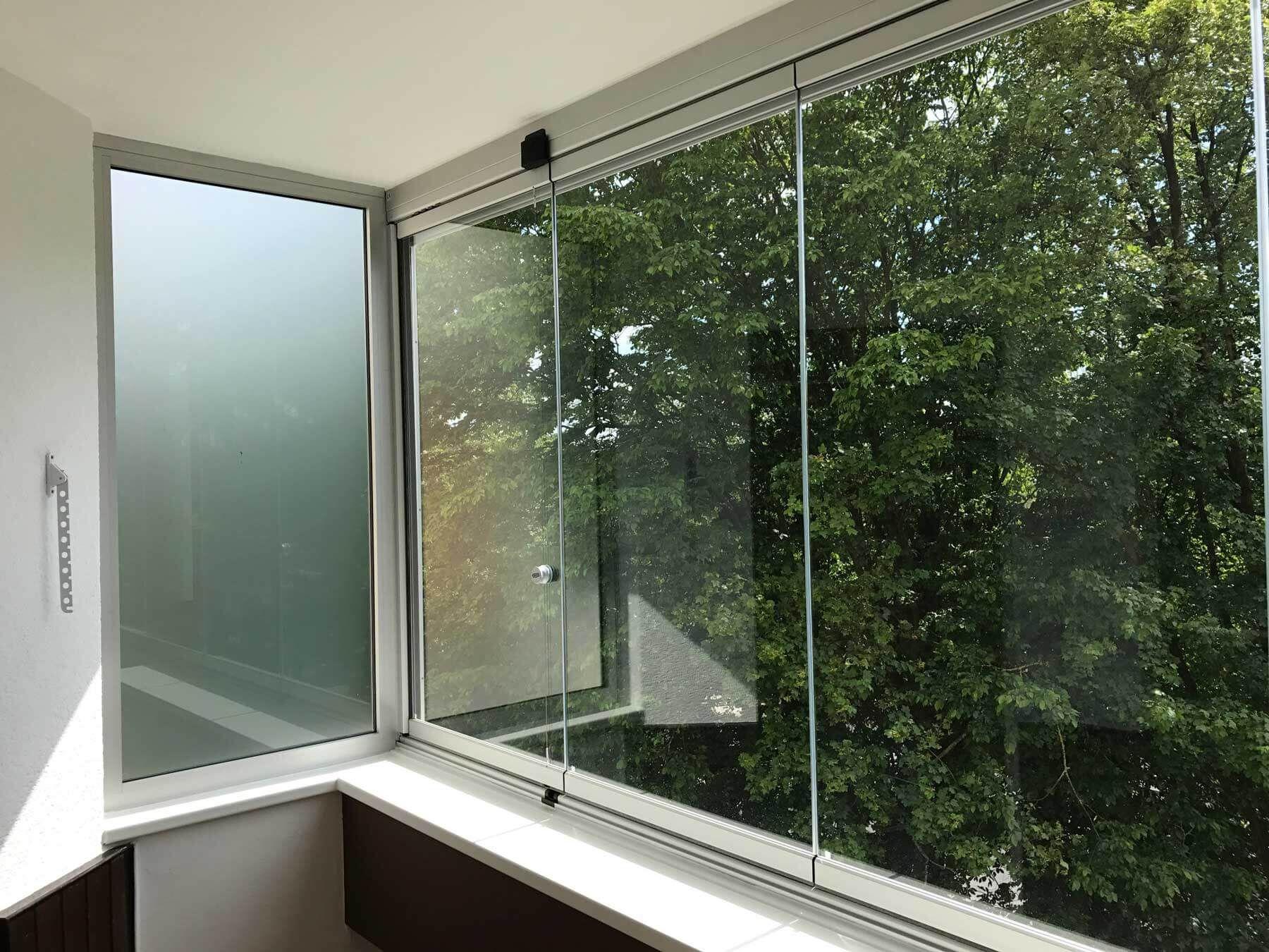 Balkonverkleidung Glas Faltbar Verglasungen Balkon Terrasse