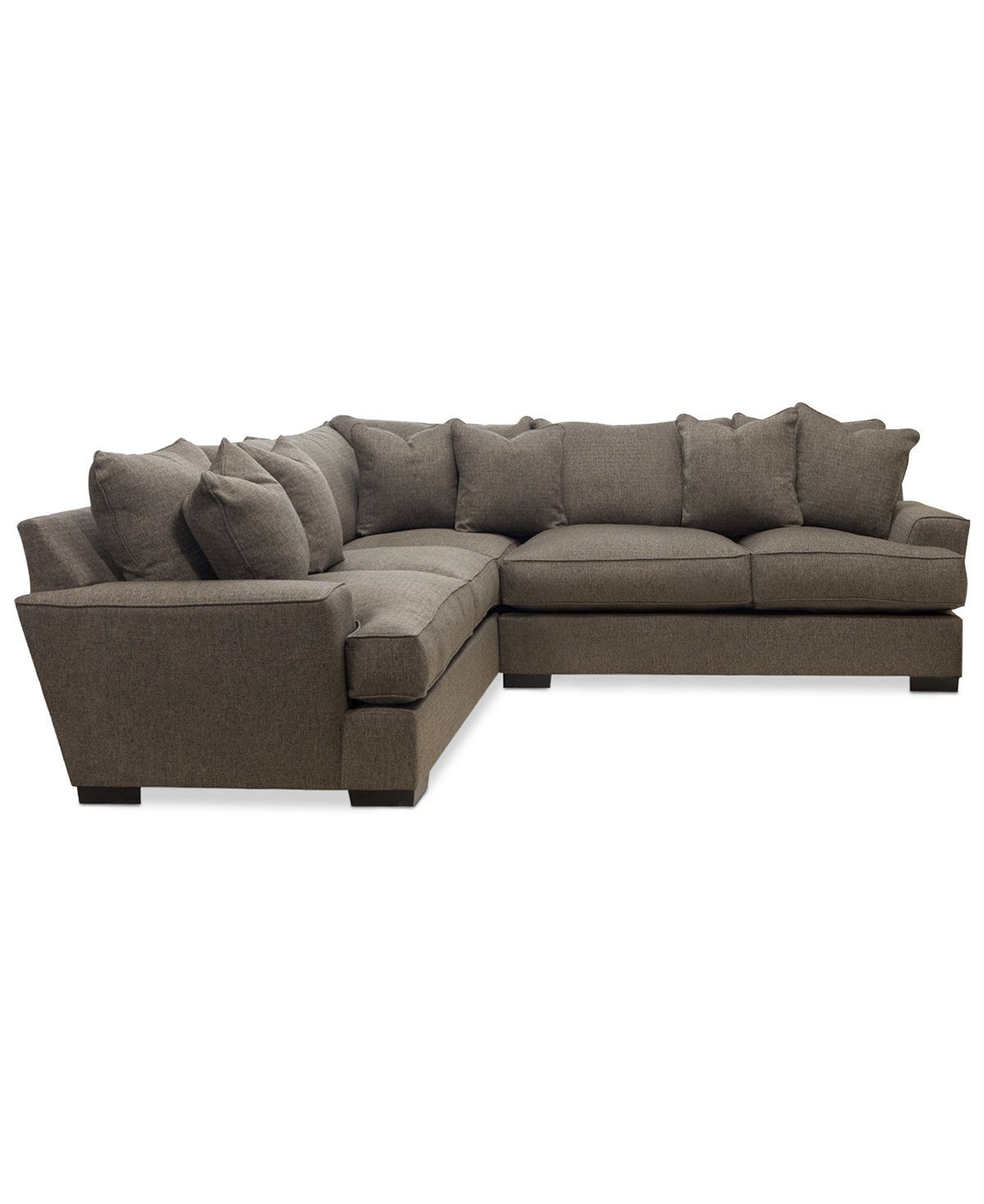 Terrific Ainsley 2 Piece L Shaped Fabric Sectional With 6 Toss Pabps2019 Chair Design Images Pabps2019Com