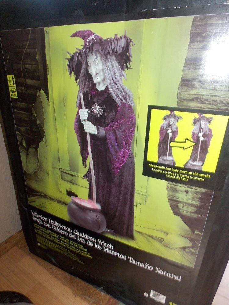 Gemmy Halloween 2020 Fog Cauldron With Sound Halloween LIFESIZE Gemmy Animated Witch Fogging Cauldron Haunted