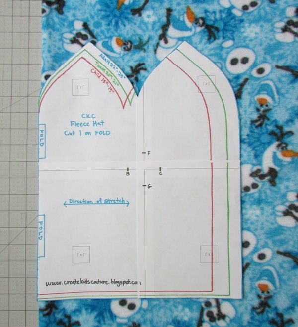 Create Kids Couture: Quick and Easy Fleece Hat Pattern | Charity ...