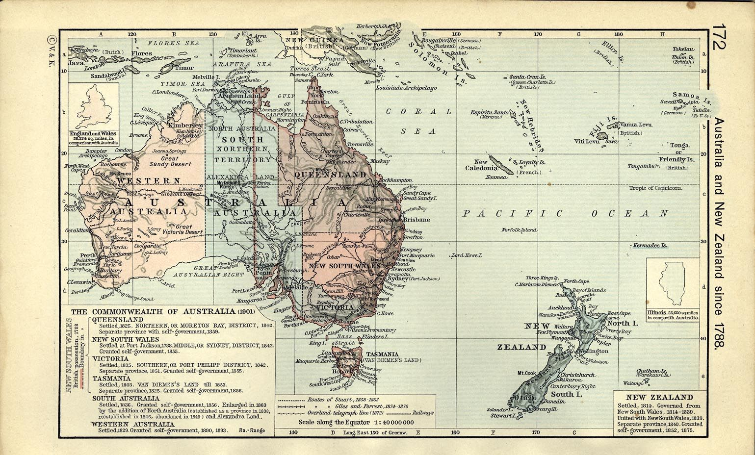 Map Of Australia 1901.Australia And New Zealand 1901 Anything New Zealand Australia