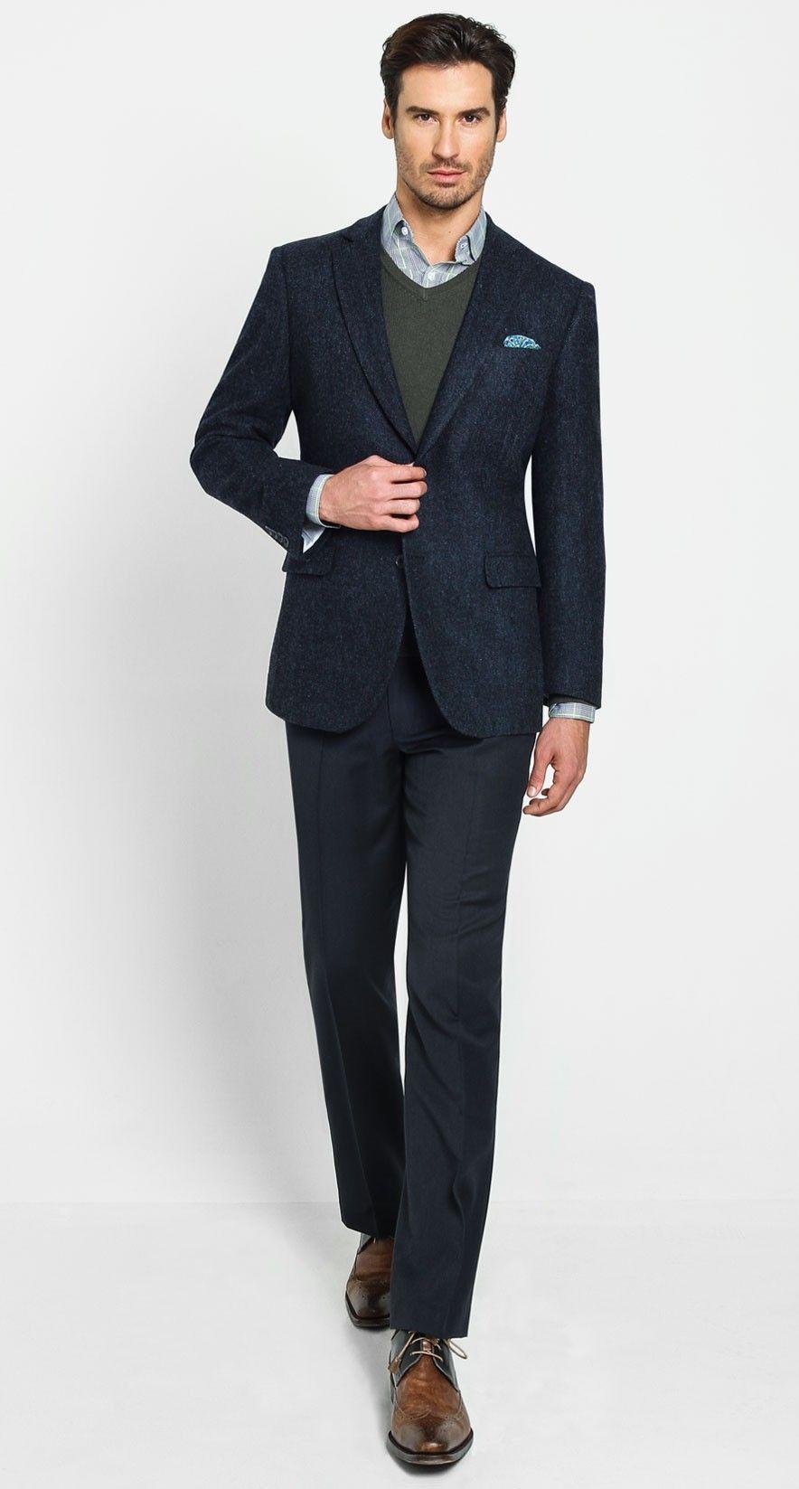 b36d6be471dd29 JT Herringbone Sportscoat - Navy | Bachrach Men's Outerwear | Mens ...