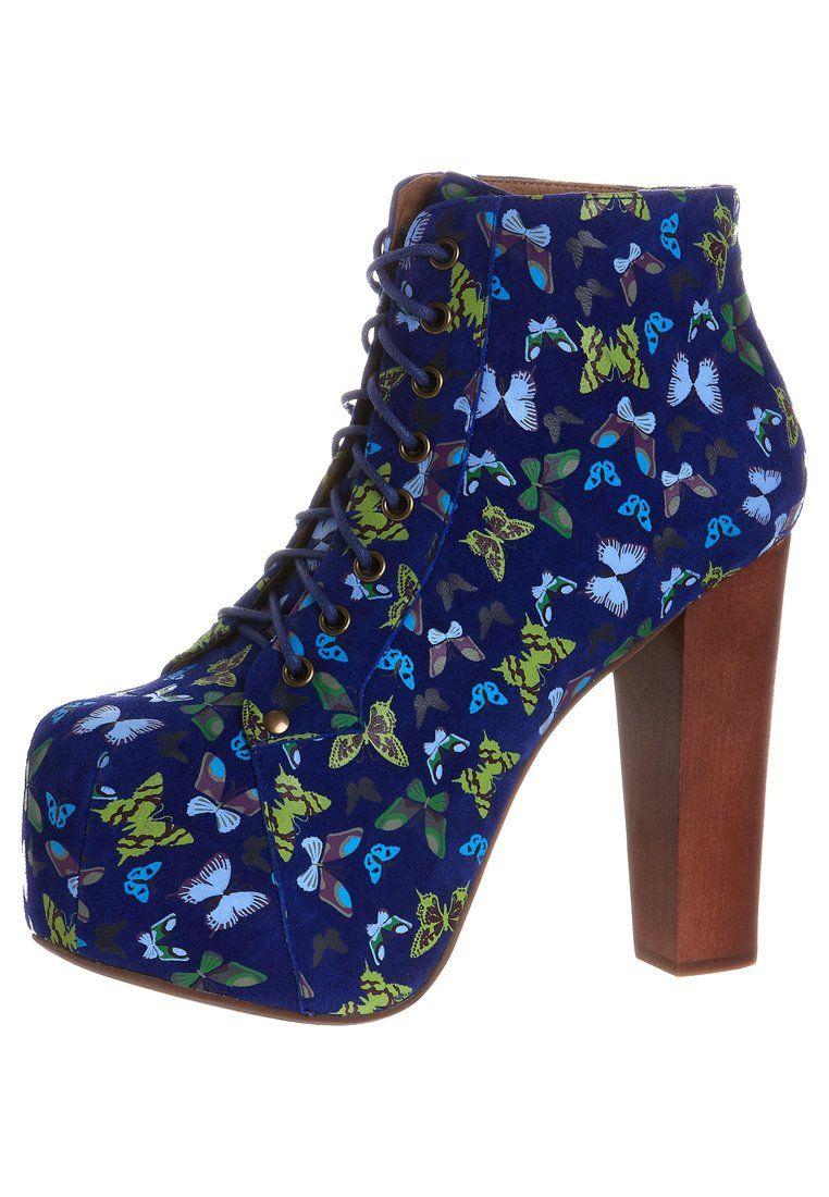 410ced3a1d6c LITA - Enkellaarsjes met hoge hak - blue @ Zalando.nl 🛒   Love <3 ...