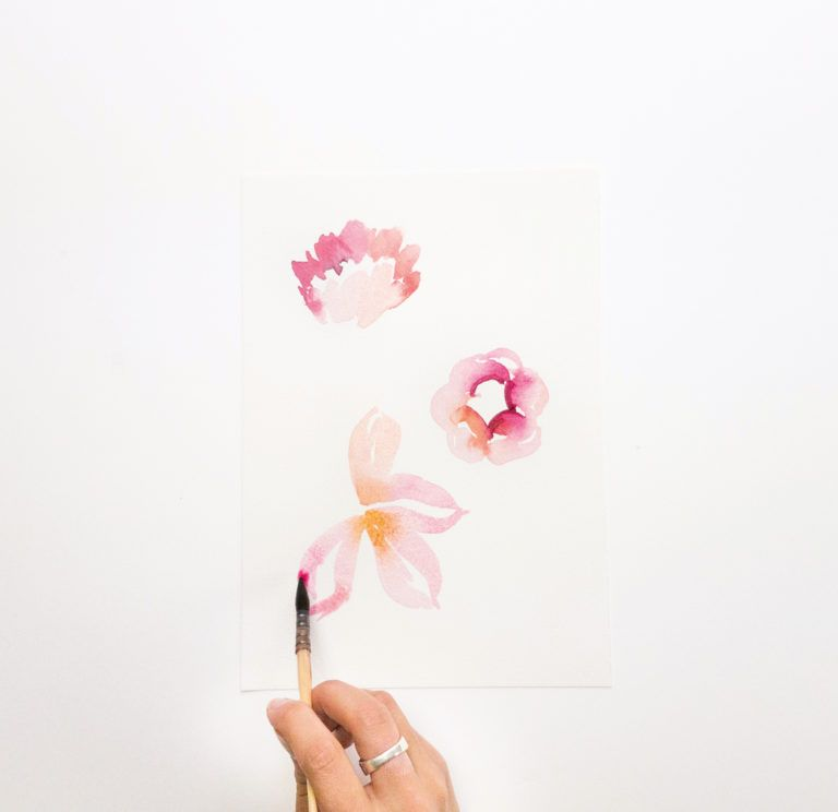 Lovely And Easy Watercolor Flowers Watercolor Flowers Tutorial