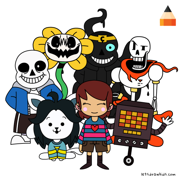 How To Draw Game Characters With Images Undertale Drawings