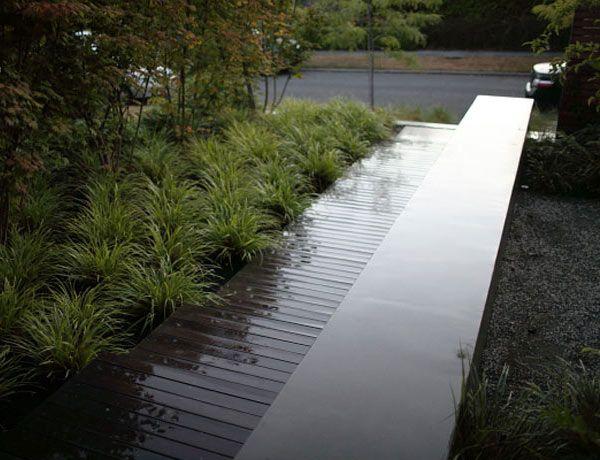 Modern Entry Seattle Concrete Seat Wall Ipe Deck Carex Vine Maple Modern Landscaping Front Gardens Landscape