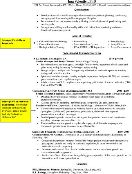 How to convert your academic/science CV into a resume Molecular