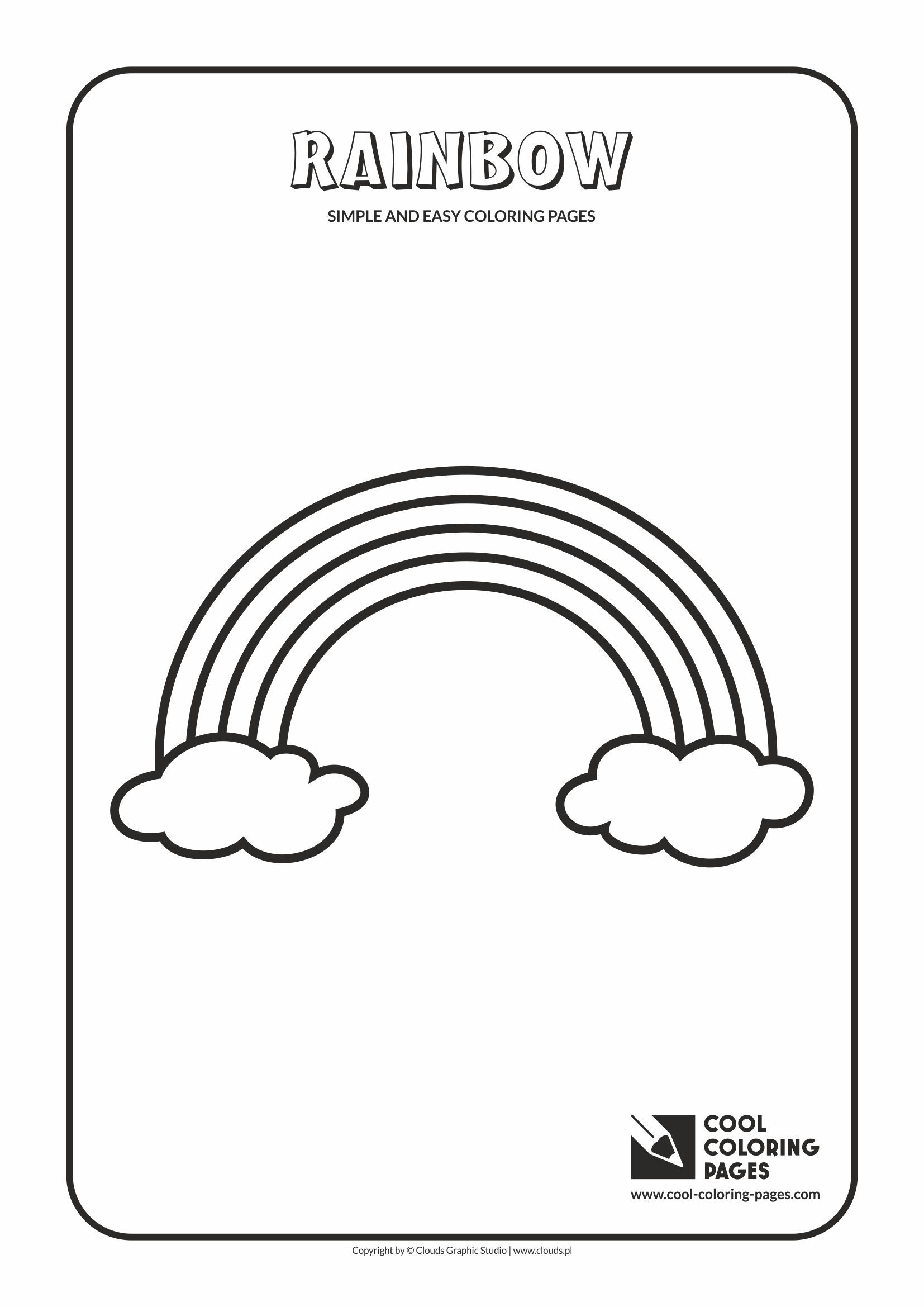 Simple and easy coloring pages for toddlers - Rainbow | Simple and ...