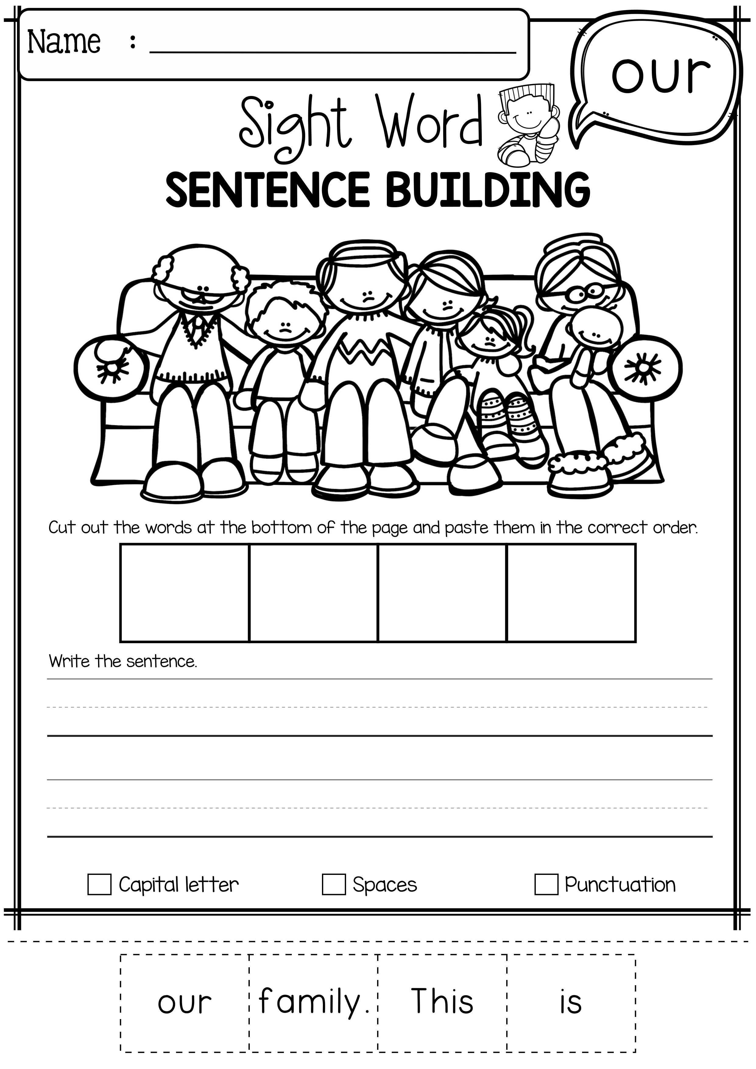 Sight Word Sentence Building Primer