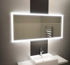 Halo Wide Led Light Bathroom Mirror
