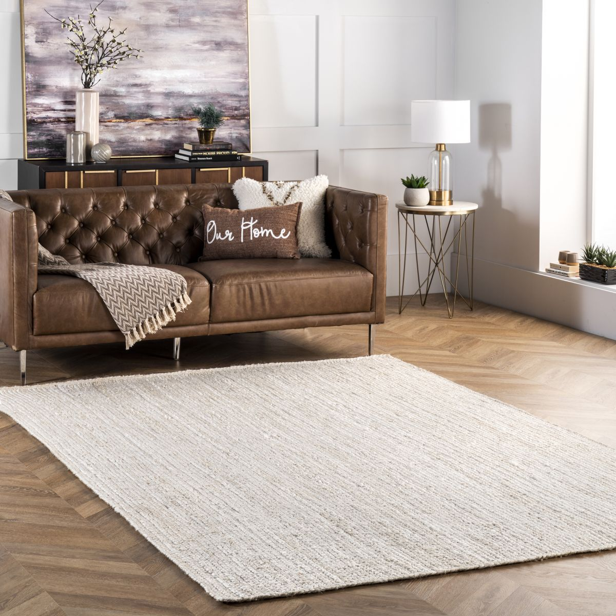 Maui Jute Braided Natural Rug In 2020 Boho Living Room White Rug Jute Rug