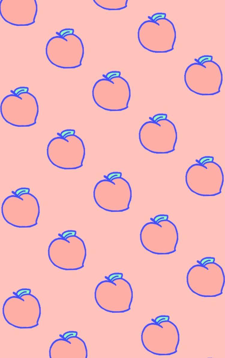 Peachy Peach Cute Pink Peach Wallpaper Summer Wallpaper Kawaii Wallpaper