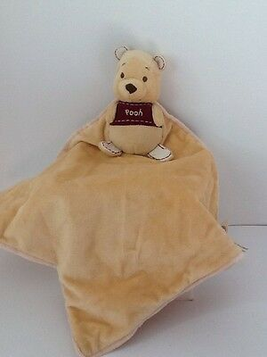 Disney Winnie The Pooh Yellow Soft Lovey Security Blanket With Rattle  | eBay #securityblankets