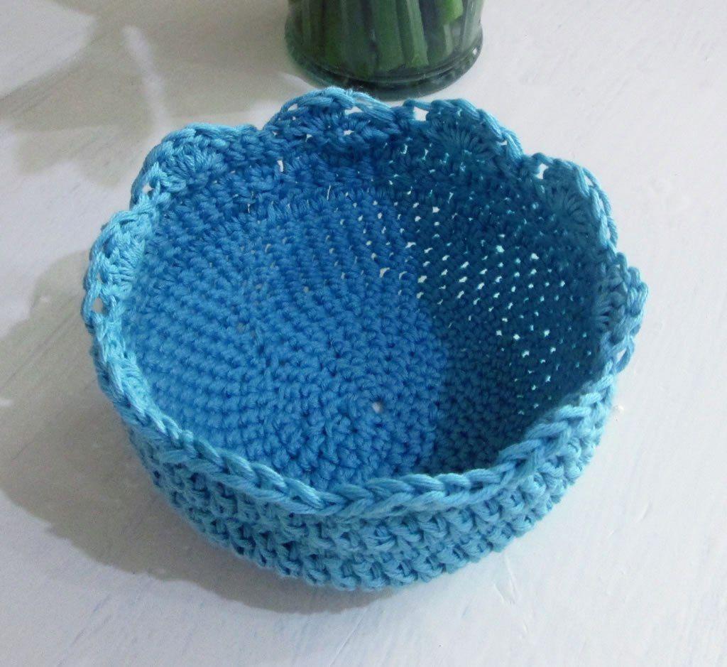 crocheted bowl pattern #crochetbowl