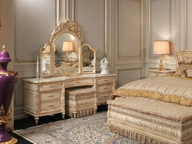 Luxury Bedrooms White And Gold Louis Xvi Style Furniture White