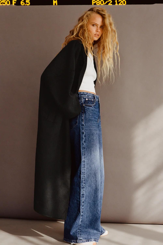 Vaqueros Y Jeans De Mujer Zara Espana Pantalones Vaqueros Anchos De La Pierna Moda Ropa Para Ninas Fashion