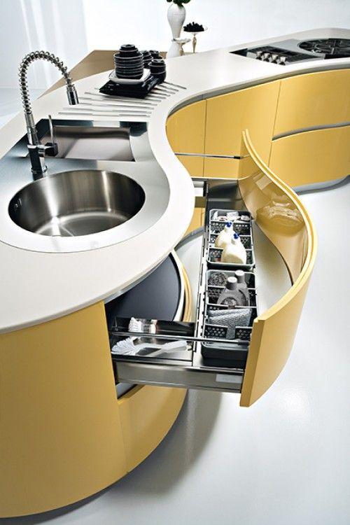 Curved kitchen cabinets   Kitchens   Pinterest   Kitchens, Kitchen ...