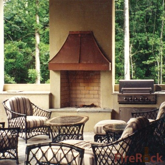 Raised Hearth Copper Hood Stucco Love This Especially The Copper